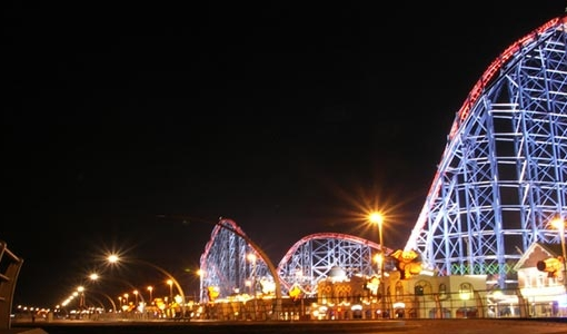 The Big One Illuminations in Blackpool Pleasure Beach