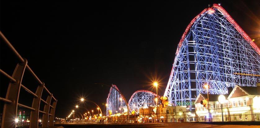 Blackpool Pleasure Beach in Lancashire, United Kingdom