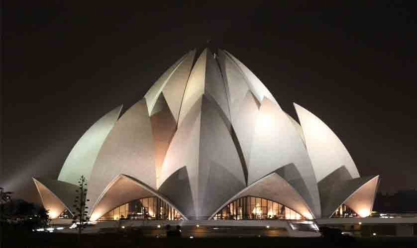 The Lotus Temple in India
