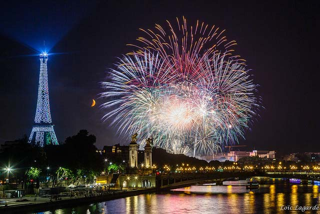 National Day Fireworks in Paris