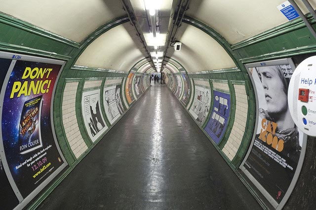 Picture of the London tube taken at not rush hour