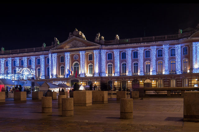 Christmas lights at the Capitole de Toulouse
