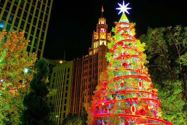 Picture taken at Christmas Square in Melbourne, Australia