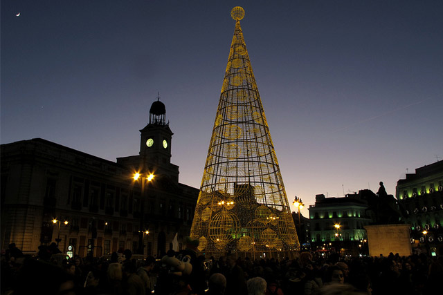 Christmas Tree at The Puerta del Sol in Madrid