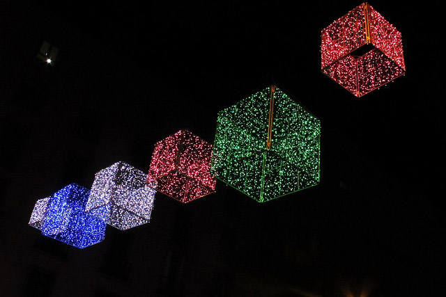 Christmas decorations at Goya Street