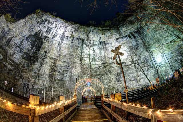 Lighting of the Tunnel at Natural Tunnel State Park