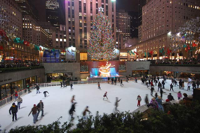 Ice rink in New York