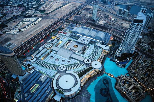 Aerial view of The Dubai Mall