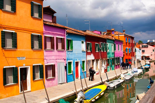 Colorful Burano Houses