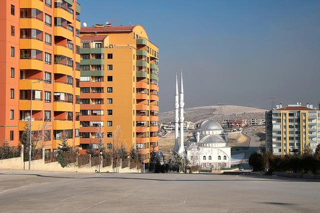 mix of architectural styles in Ankara