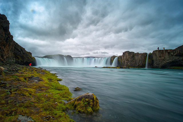 Goðafoss: waterfall of the gods