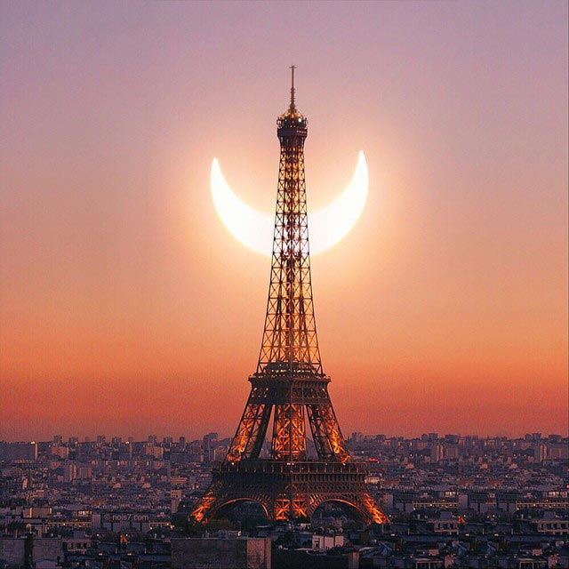 The Solar Eclipse in Paris