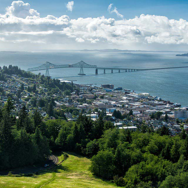 View from The Astoria Column in Oregon