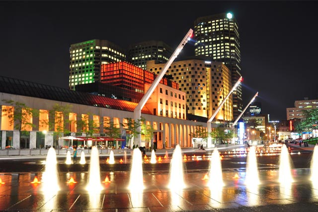 Place des Arts in Canada at night