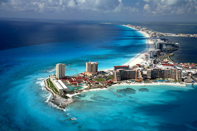 Magnificent Aerial View of Cancún