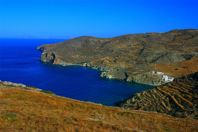 View of Angali, Folegandros in Greece