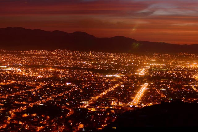 View of Arequipa at Night