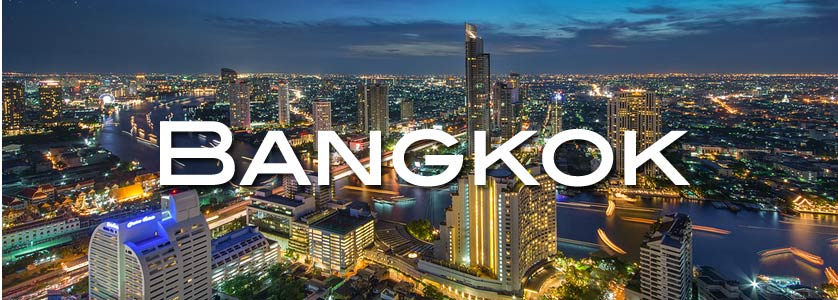 City view of the Bangrak District, Bangkok, Thailand