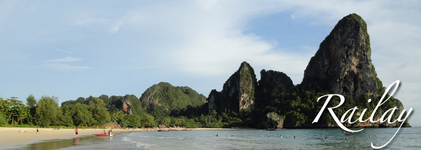 Limestone Cliffs at Krabi, Railay West Beach, Thailand