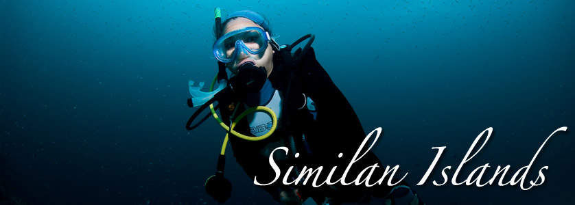 Scuba diving in Similan Islands, Thailand