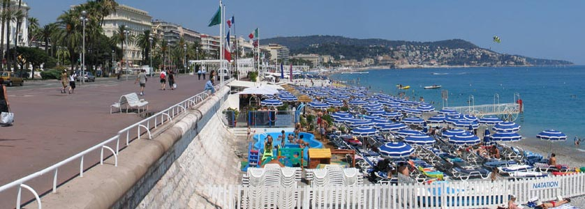 Nice, Promenade des Anglais and the beach