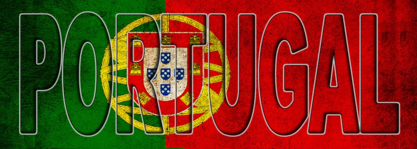 The title Portugal filled with the Portuguese flag