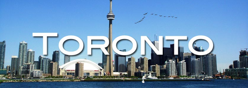 From Toronto Island, looking back at CN Tower, across the runway and Canada Geese flying over.