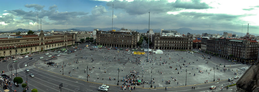 The Zócalo or Plaza de la Constitución (Constitution Square)