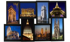 Collage with some European attractions