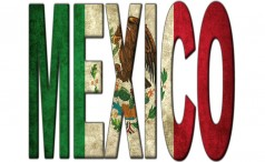 The word Mexico filled with the Mexican flag